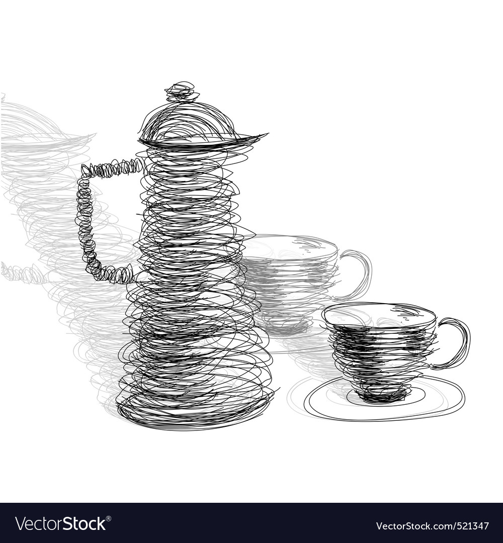 Tea cup with teapot