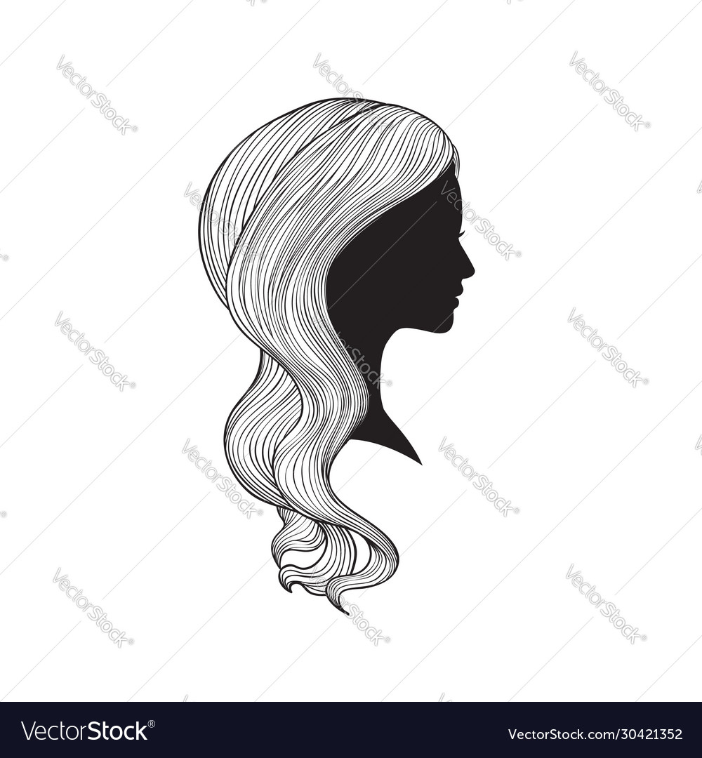 Hairstyle beauty salon banner woman with