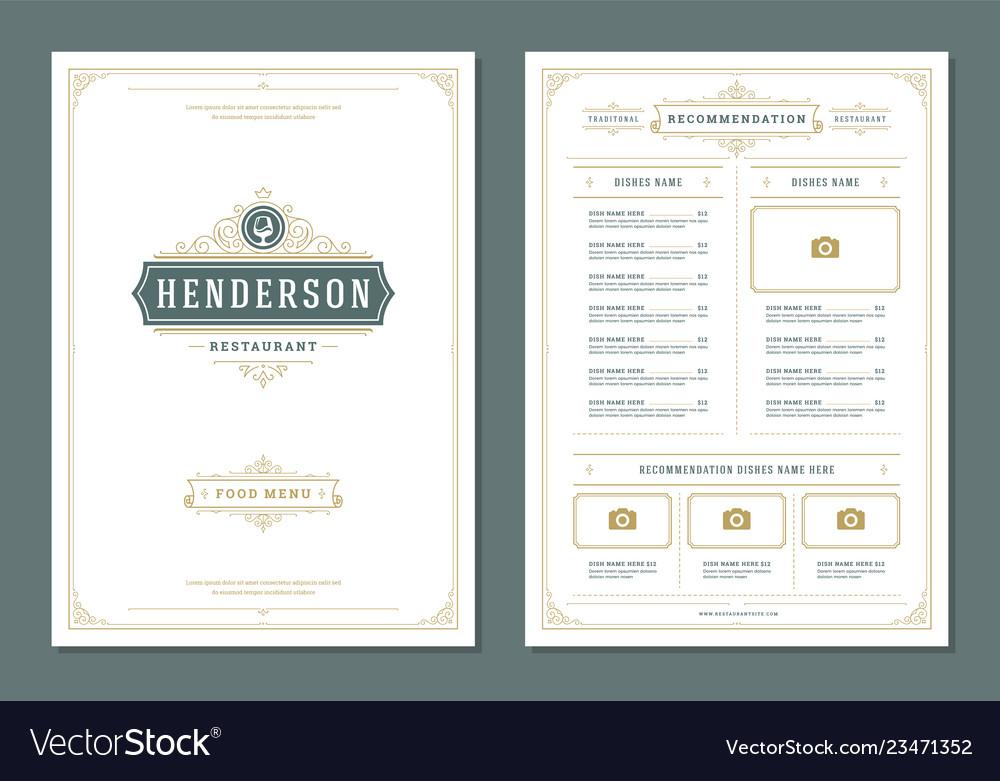 Restaurant menu design and logo brochure