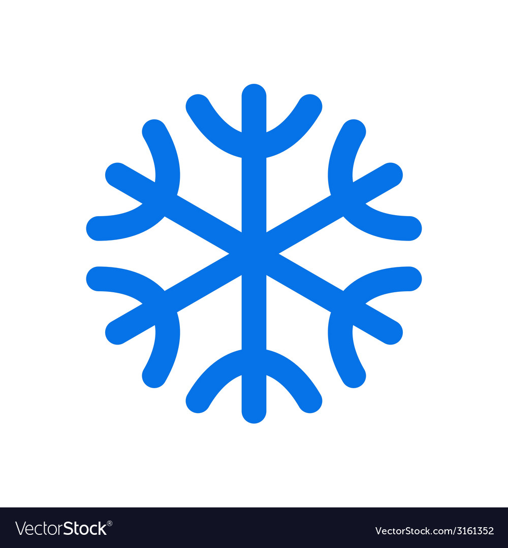 snowflake icon royalty free vector image vectorstock rh vectorstock com snowflake vector file snowflake vector graphics