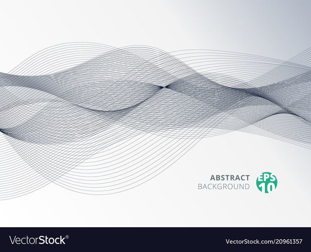 Abstract gray color line wave element for design