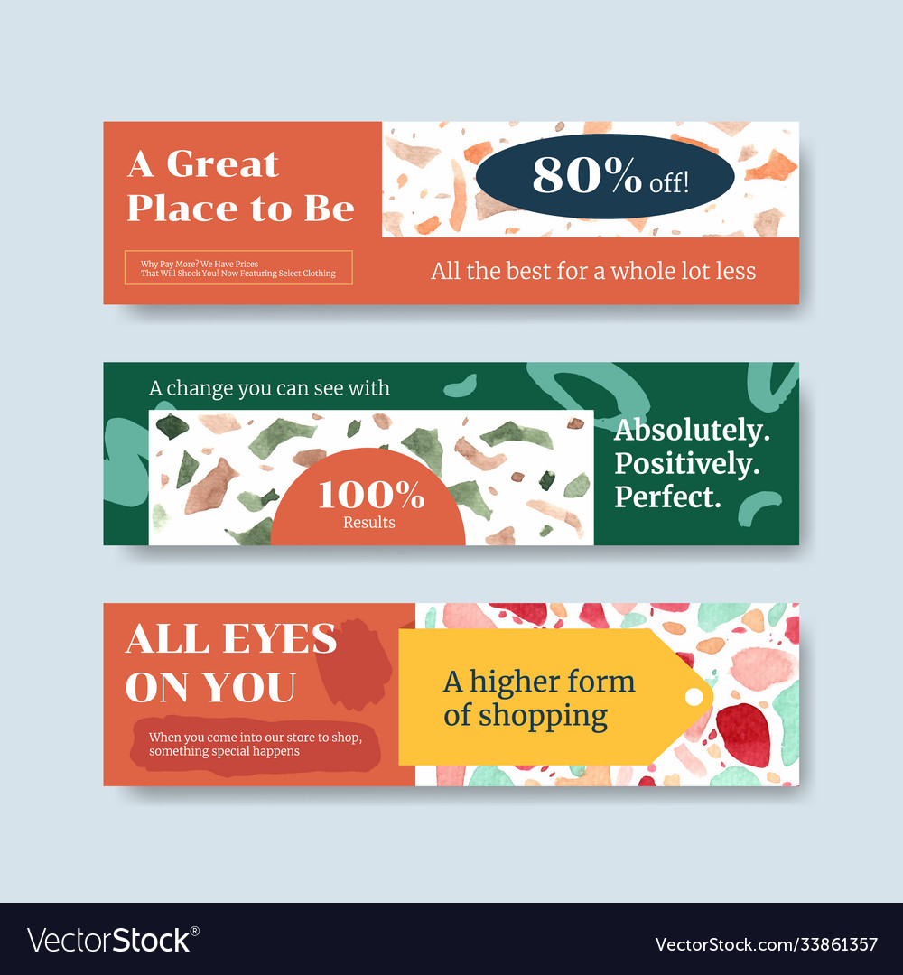 Banner template with shopping design for leaflet
