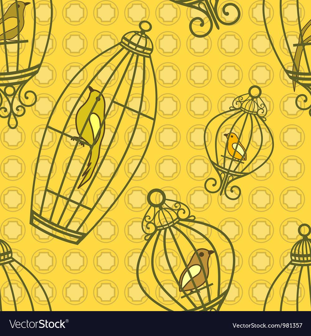 Bird in Birdcages pattern