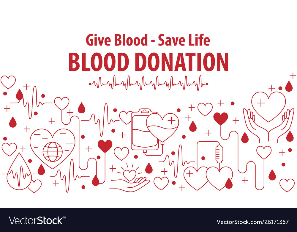 Donation blood banner