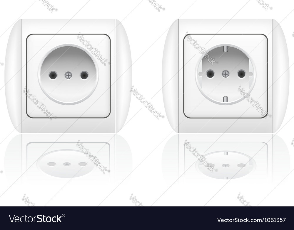 Electrical socket vector image