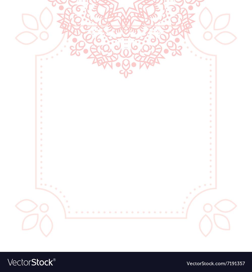 Light pink mandala card template background