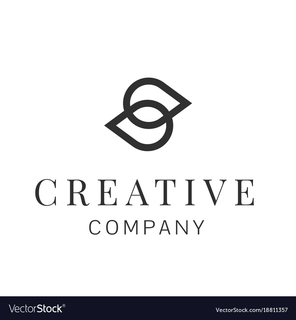 S letter corporate business geometric abstract vector image