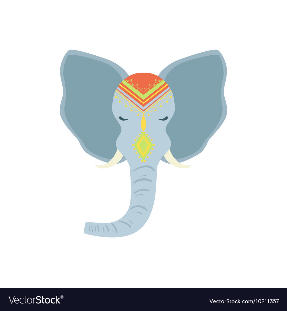 Sacred Indian Elephant Head