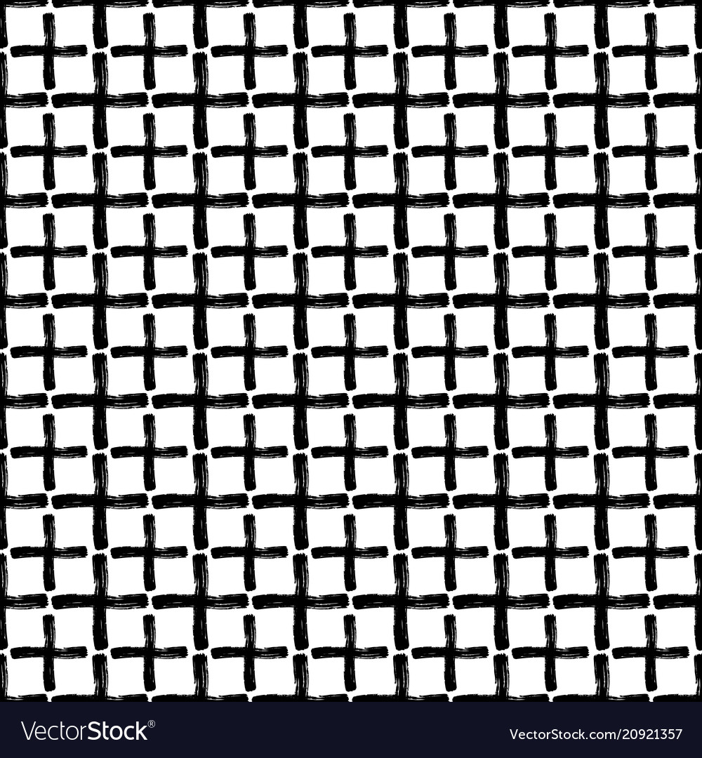 Seamless pattern of crosses