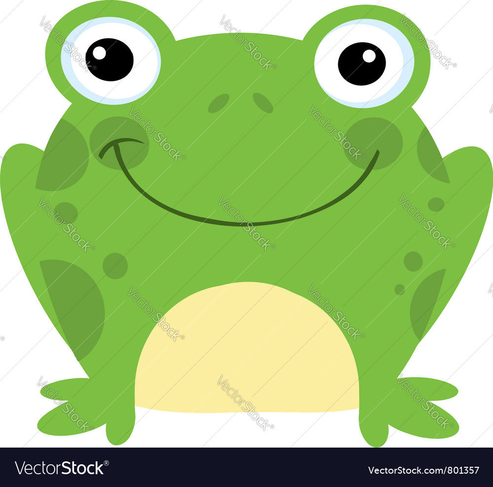 smiling frog royalty free vector image vectorstock rh vectorstock com frog vector free frog vector free