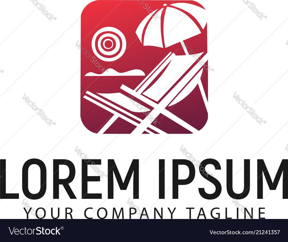 Summer logo design concept template