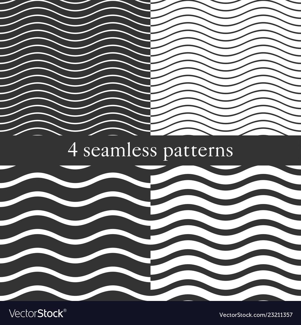 Waves geometric seamless patterns