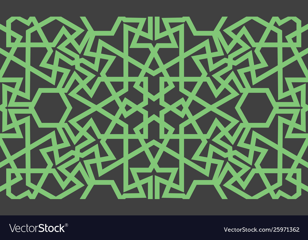 Abstract seamless pattern design with oriental