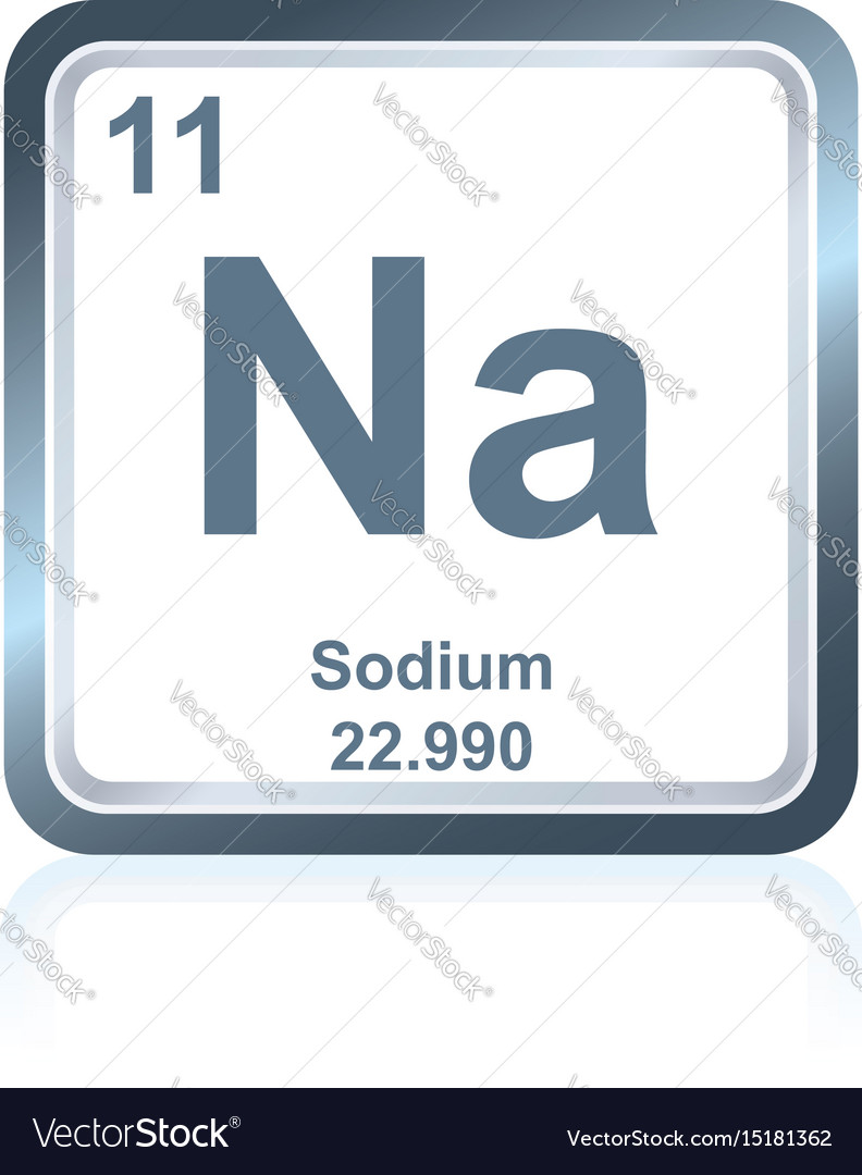 Chemical element sodium from the periodic table vector image urtaz Image collections
