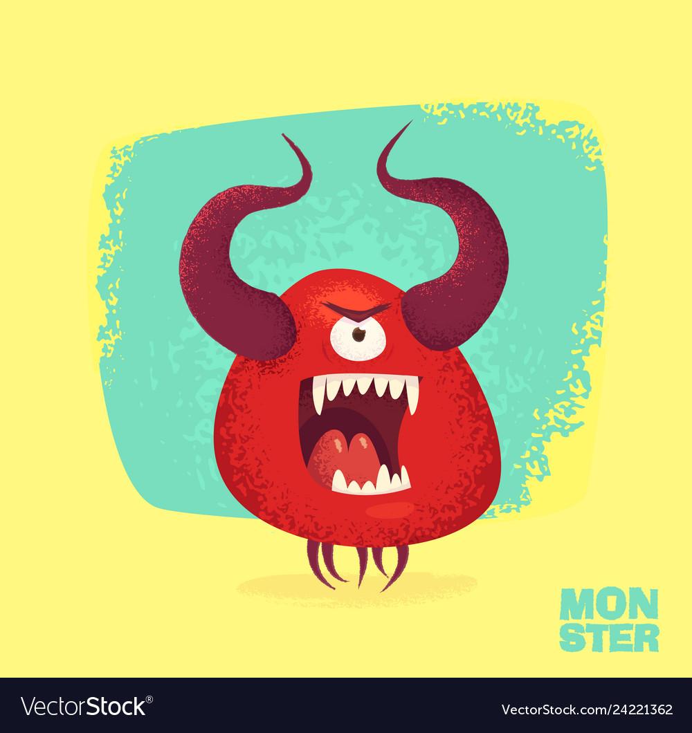 Cute monster set for halloween