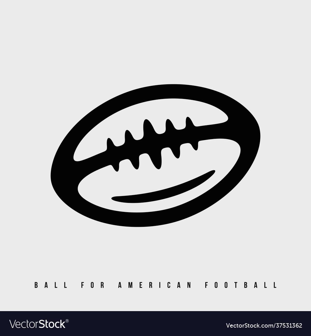 Modern professional icon american football ball