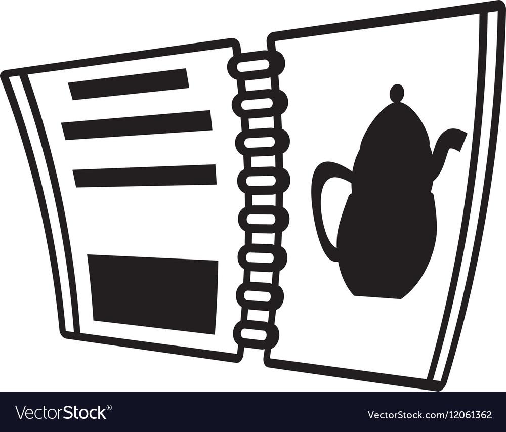 Open menu restaurant outline vector image