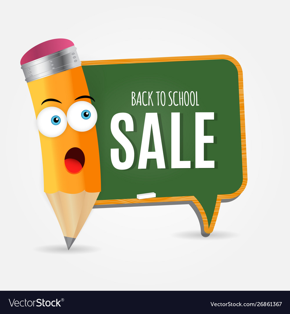 Abstract back to school sale background with