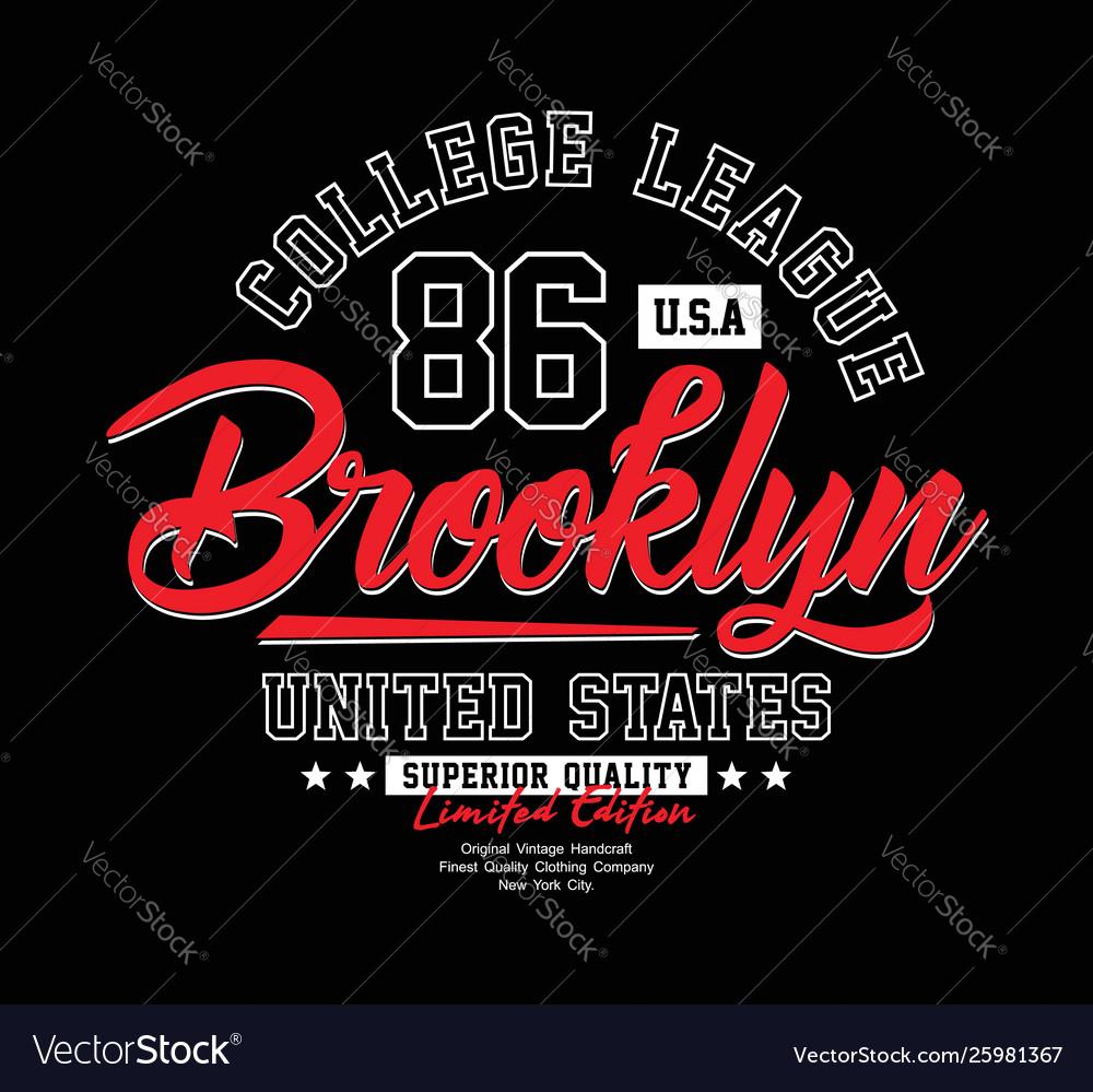 Brooklyn typography t-shirt graphics