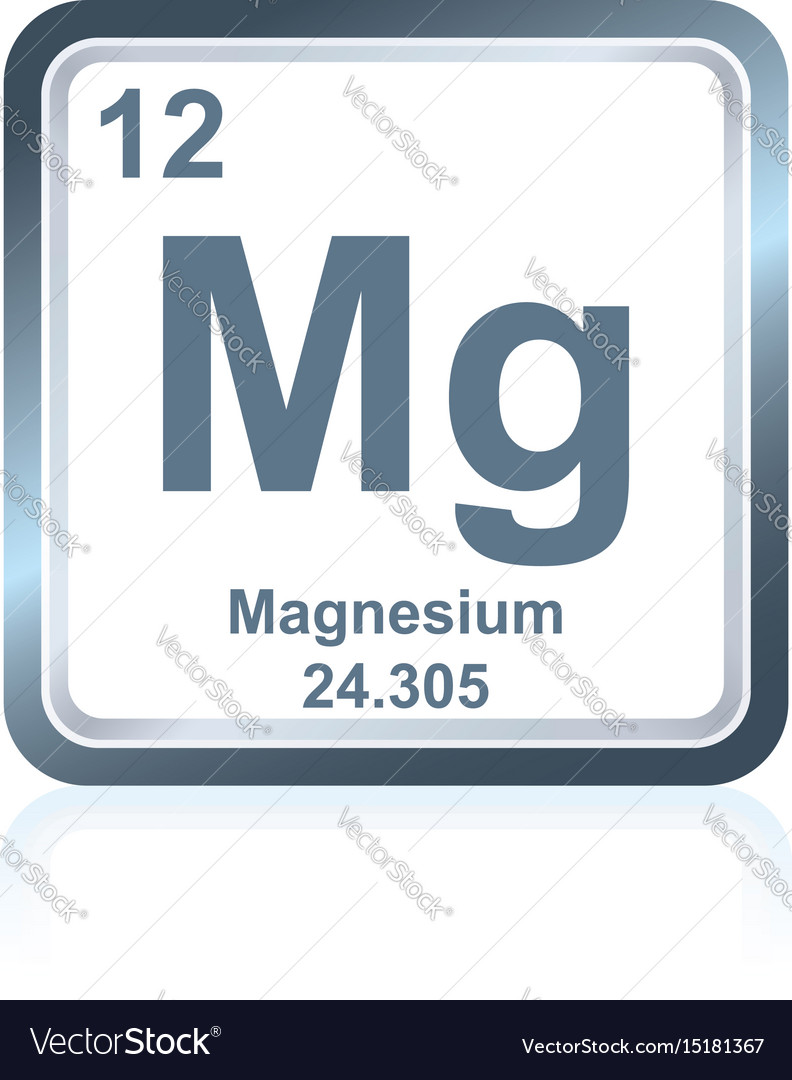 Chemical element magnesium from the periodic table chemical element magnesium from the periodic table vector image urtaz Images