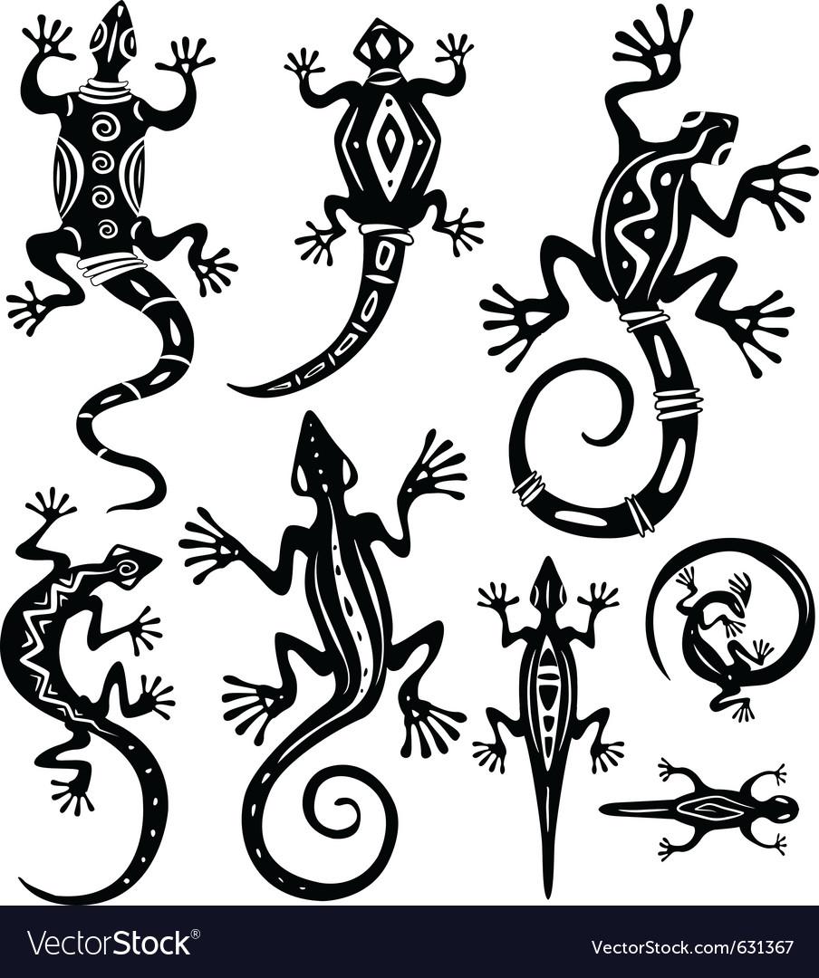 Decorative lizards