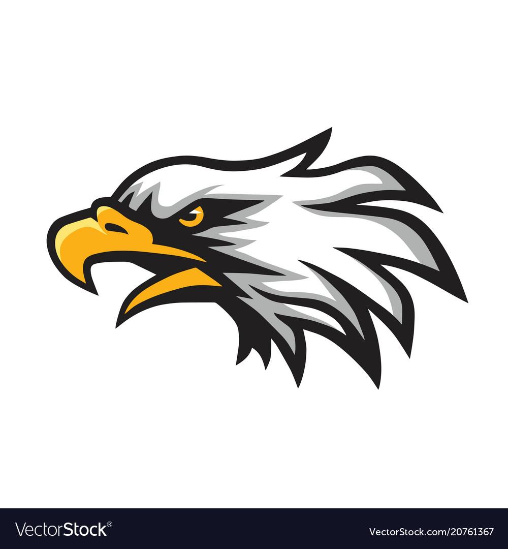 Furious eagle head logo mascot