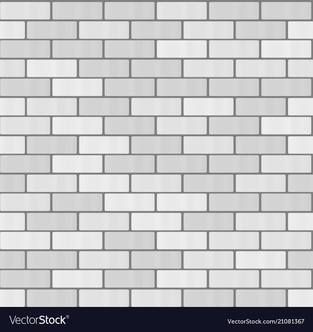 Gray white brick wall seamless pattern background