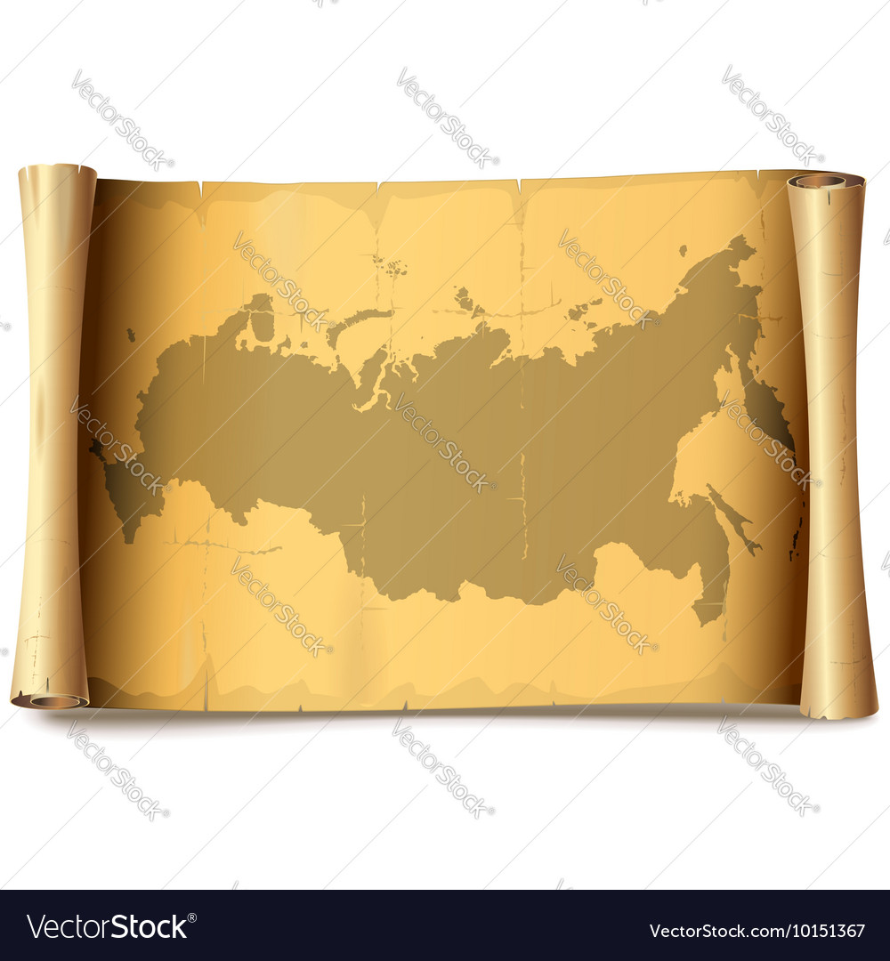 Paper Scroll with Russia vector image