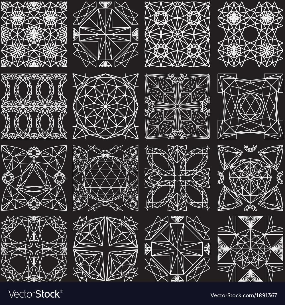 Seamless pattern from diamond cutting on black