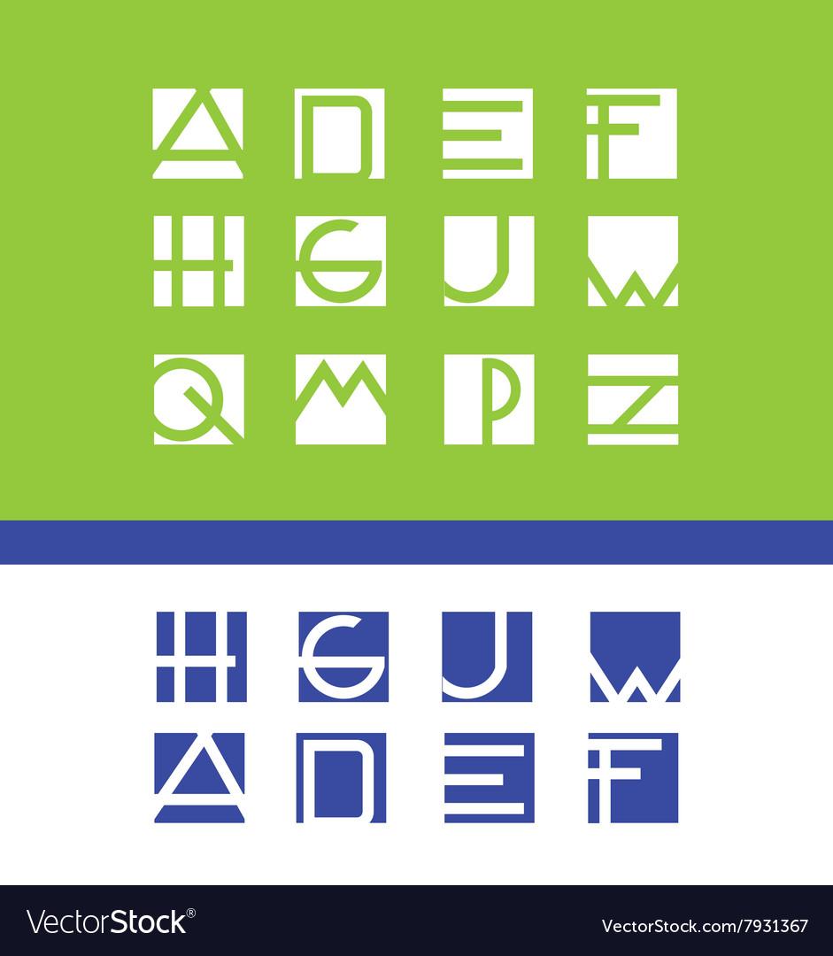 Simple flat letter set alphabet logo icon