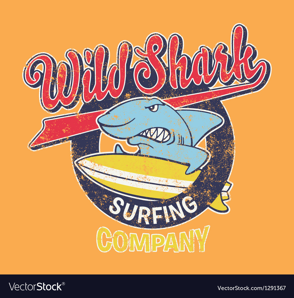 Surf Shark vector image