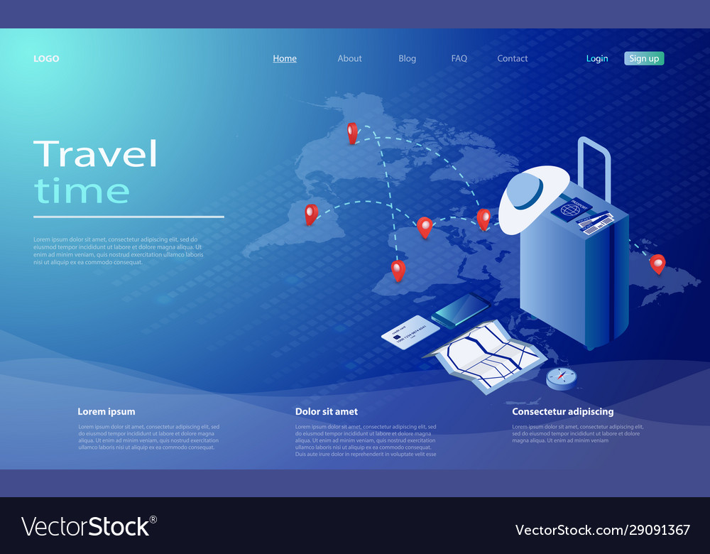 Travel and tourism booking concept travel