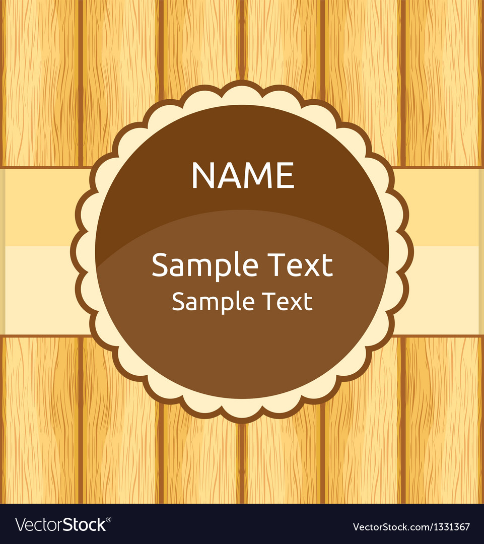 Wooden Invitation Greeting Card vector image