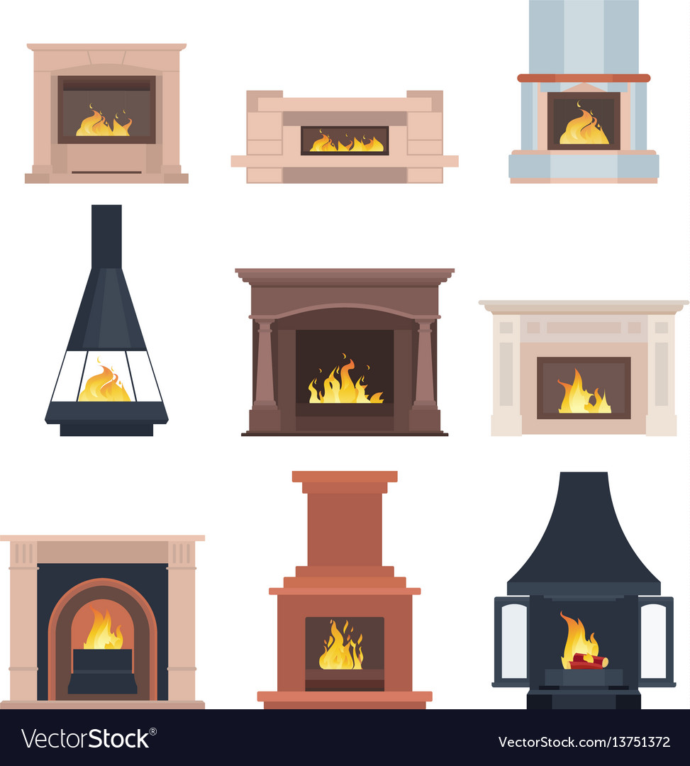 Collection of home different fireplaces to paste
