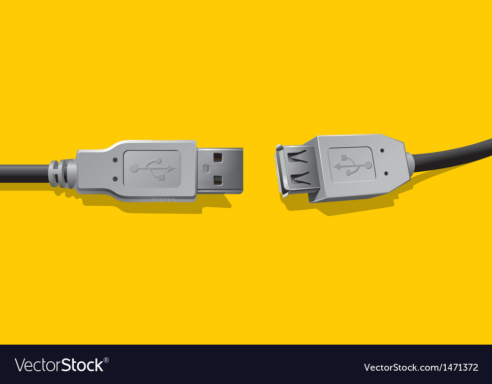 Computer connector vector image