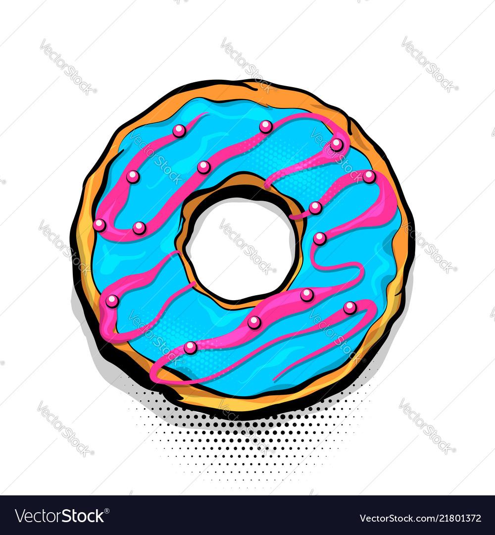 Doughnut donut cartoon pop art