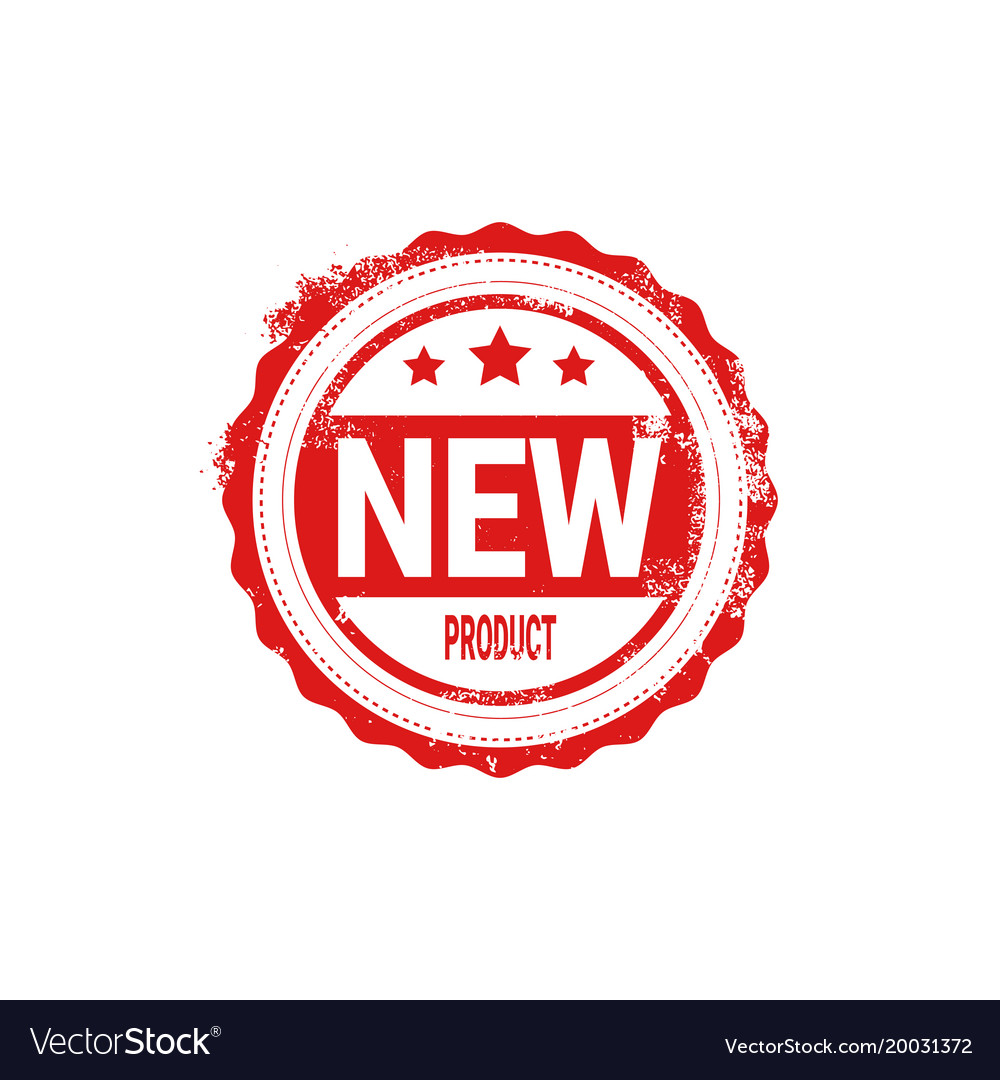 New product stamp red ink badge isolated sticker