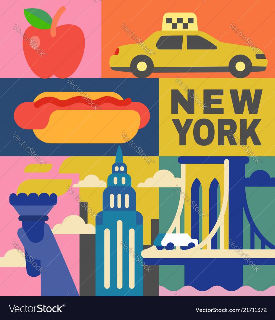 New york culture travel set