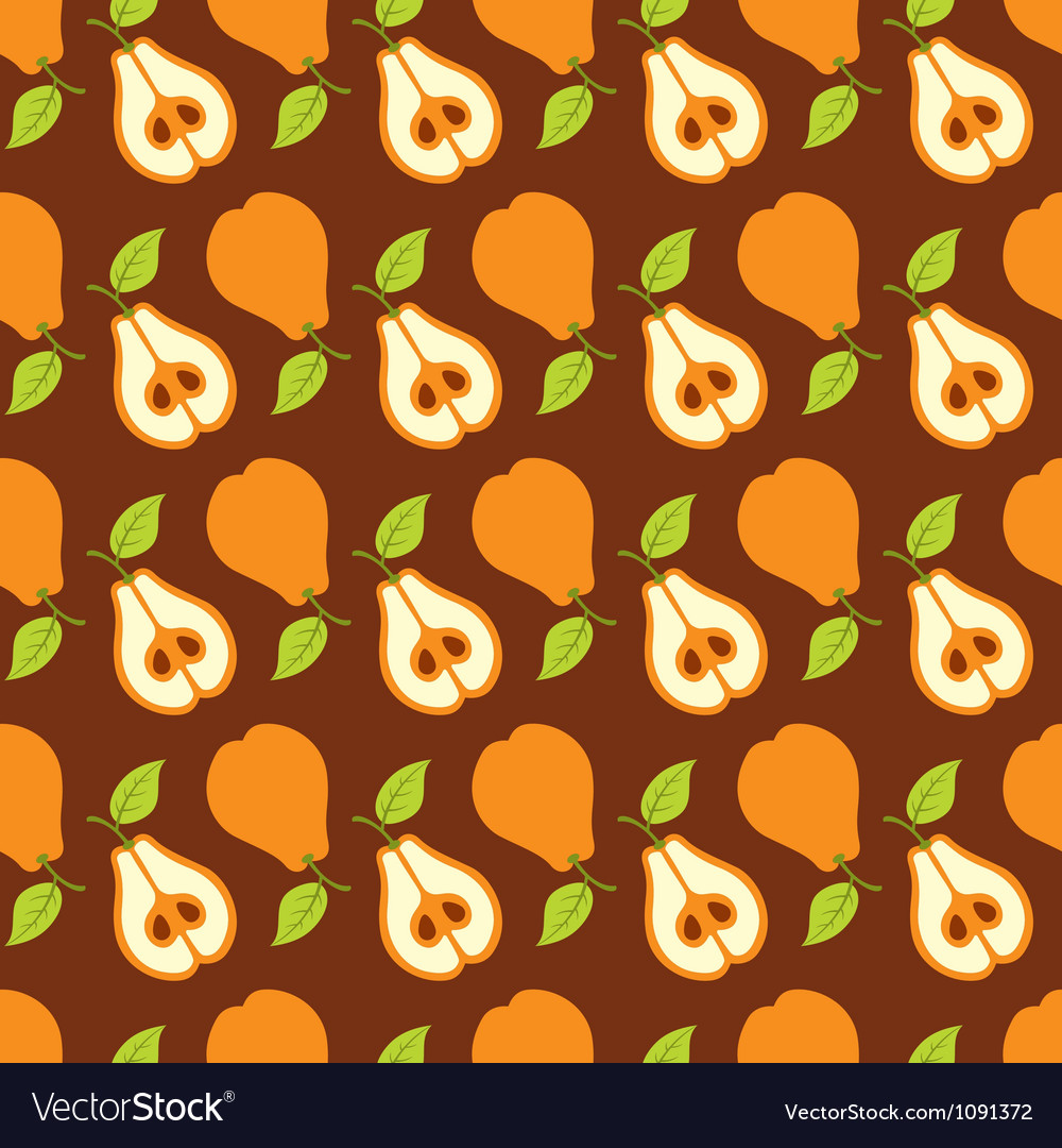 Pears seamless composition vector image