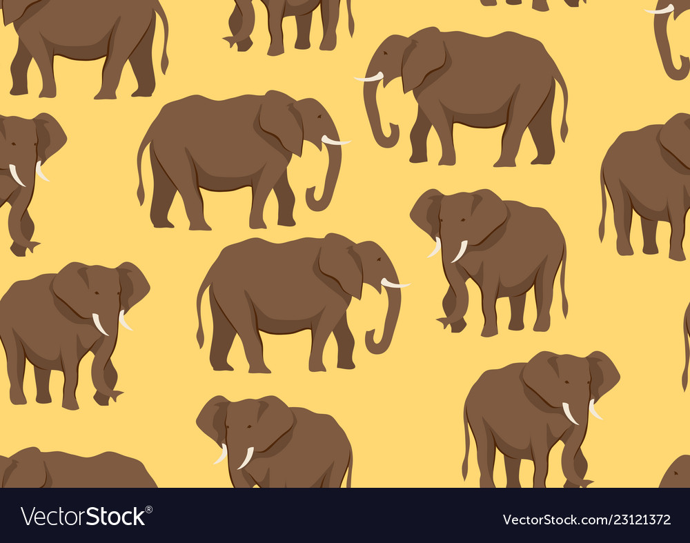 Seamless pattern with of elephants