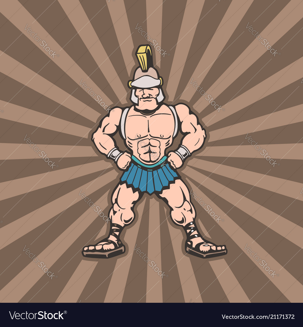 Sparta trojan cartoon character