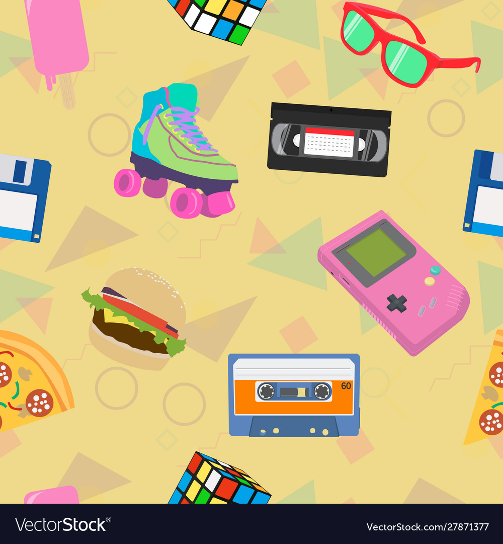 90s Themed Background Royalty Free Vector Image