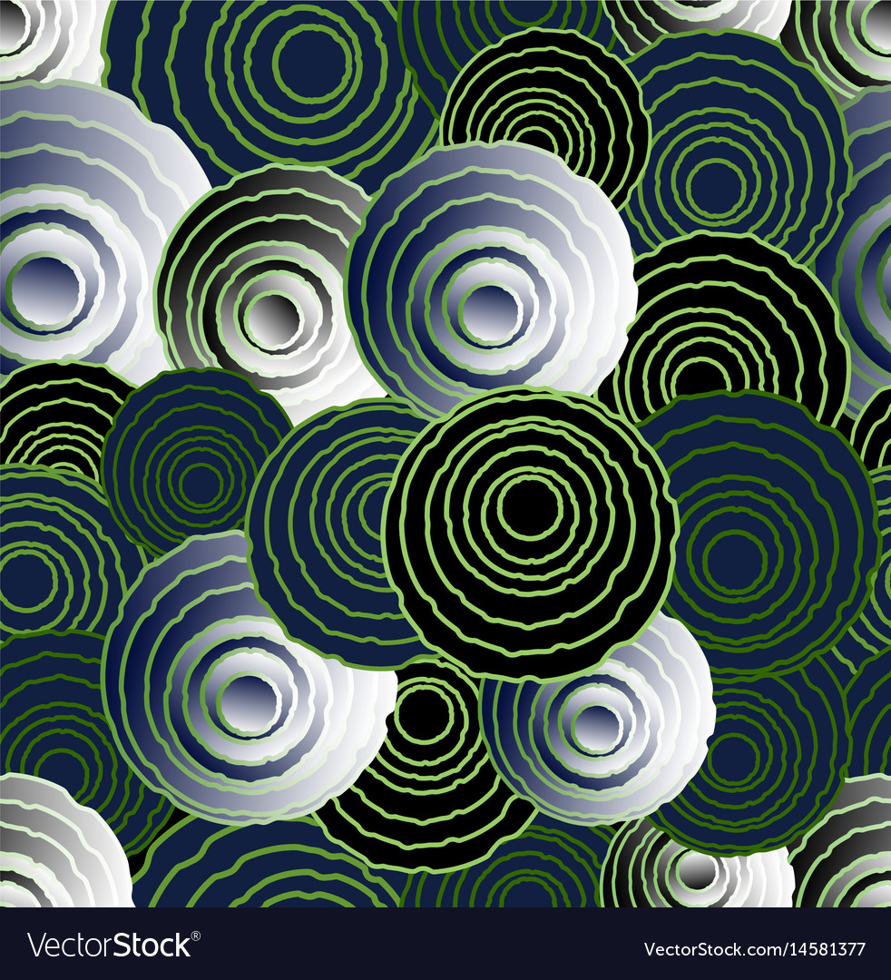 Abstract uneven circle elements in optical art