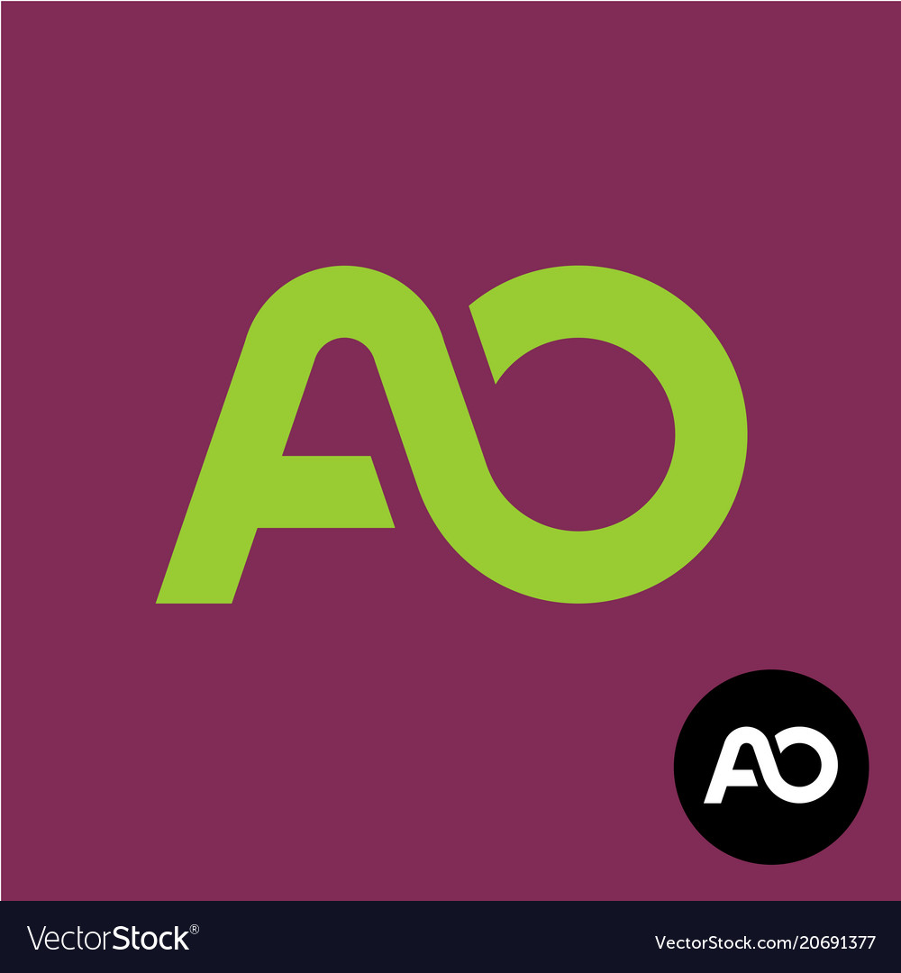 Letters ao monogram a and o logo