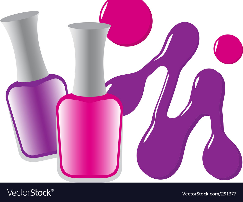 nail polish royalty free vector image vectorstock rh vectorstock com nail polish clipart images fingernail polish clipart