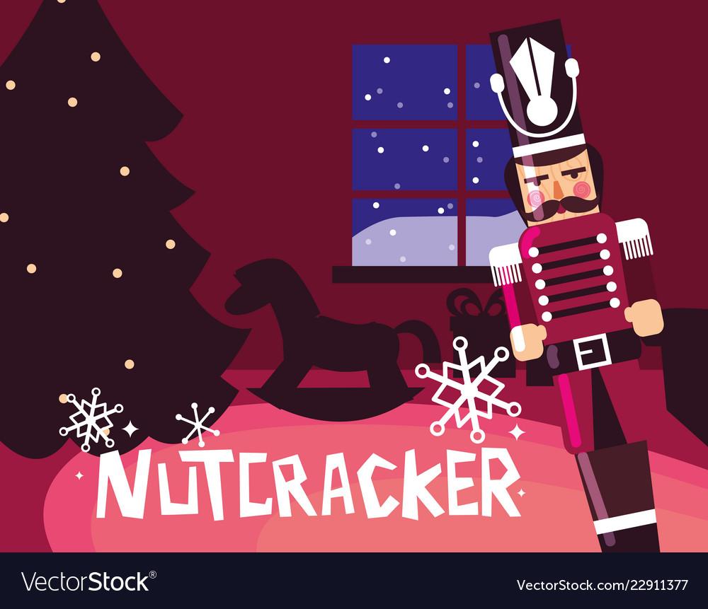Nutcracker Christmas Tree Clipart.Nutcracker Soldier With Tree Christmas