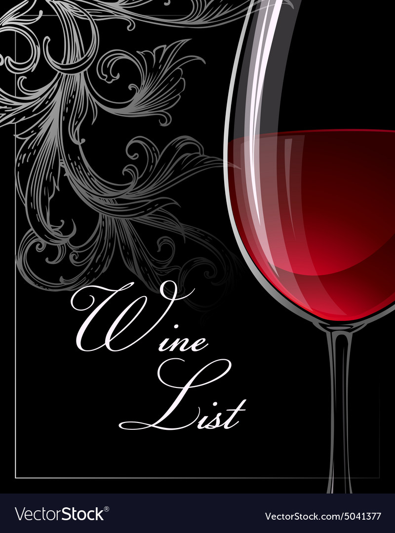 Template for wine list
