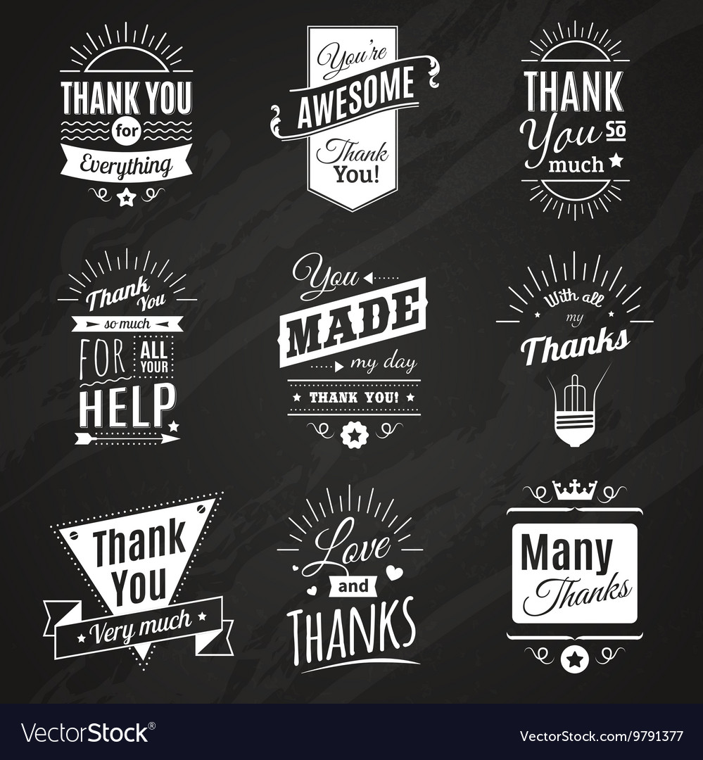 Thank You Chalkboard Signs Royalty Free Vector Image