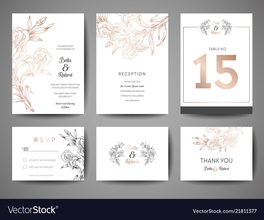 Wedding save the date invitation cards collection