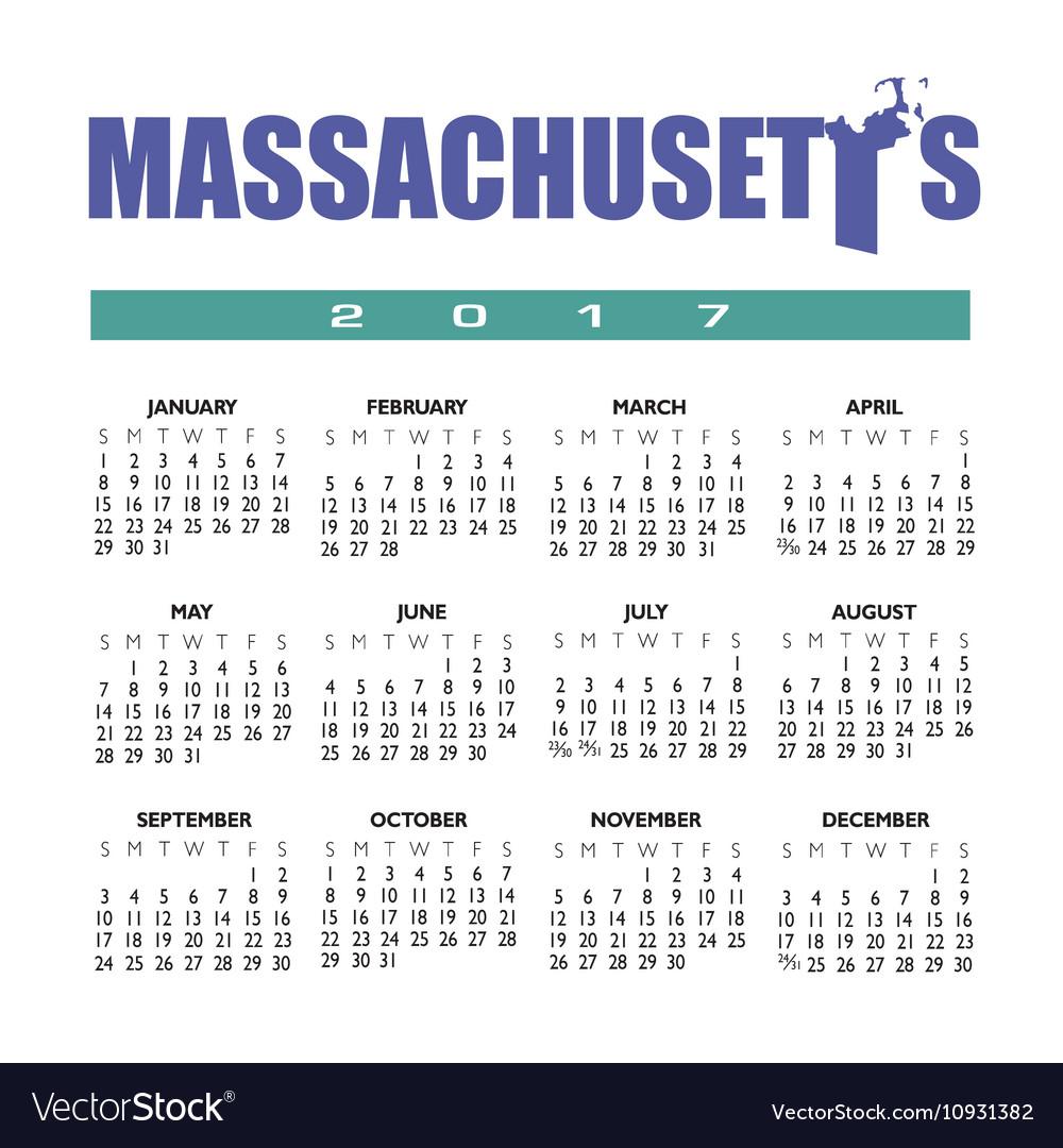 2017 Mass calendar